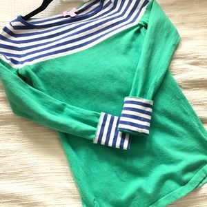 Lilly Pulitzer Green and Periwinkle Blue Sweater